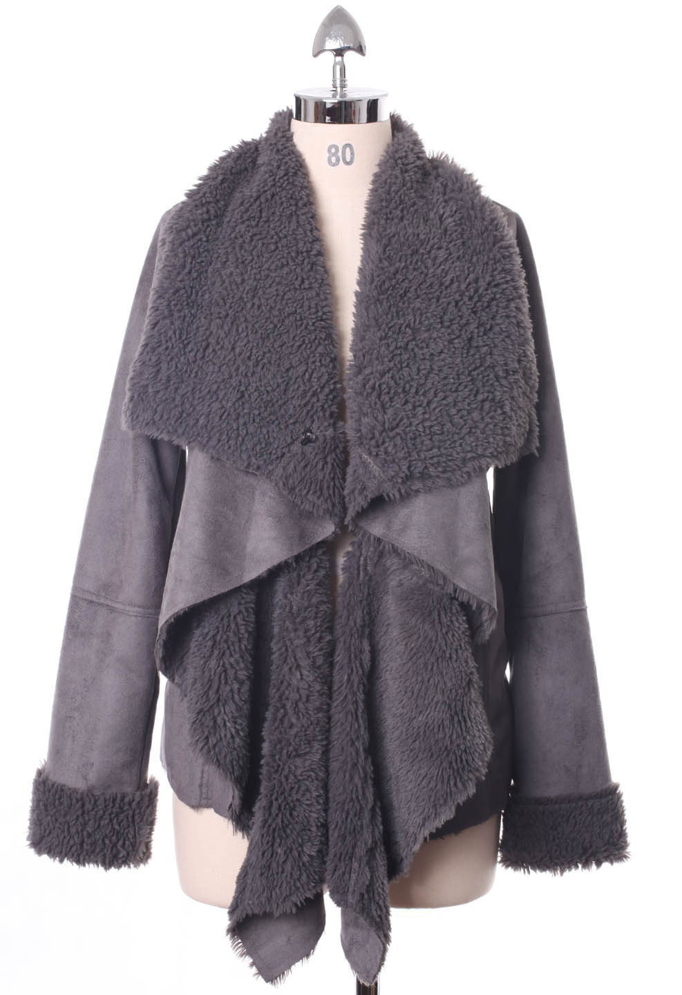 Chicwish Drape Jacket in Ash