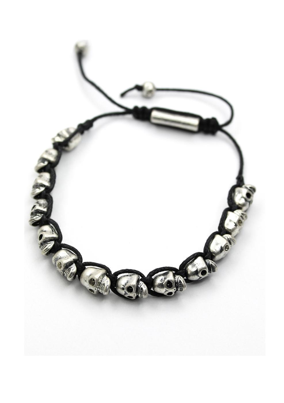 Skull Knit Bracelet