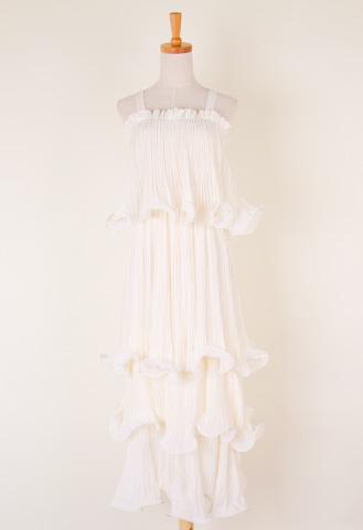 Floucing Chiffon Maxi Dress
