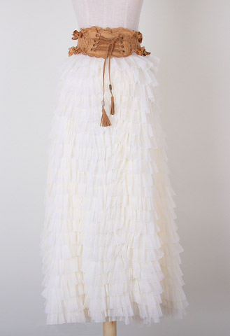 Swan Cloud Maxi Skirt