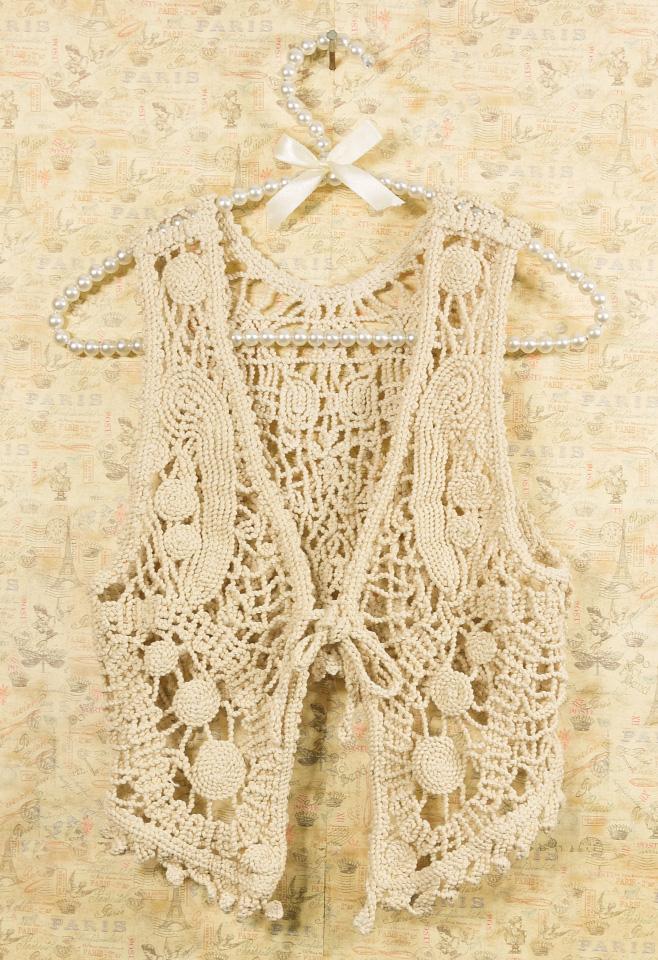 Retro Crochet Vest
