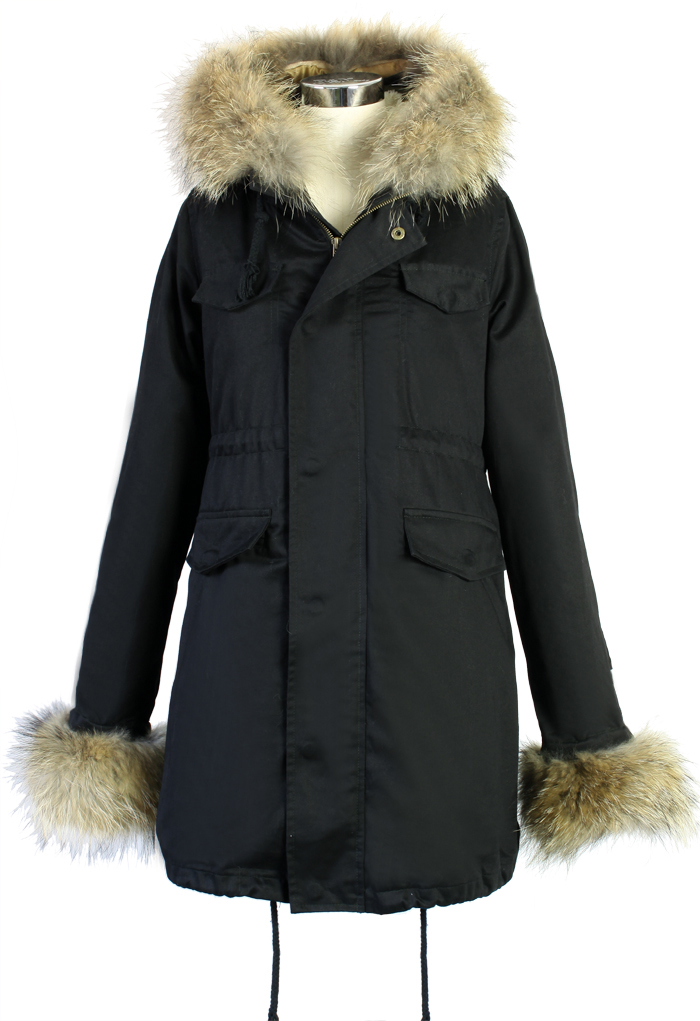 Hit The Road Detachable Fur Jacket in Black