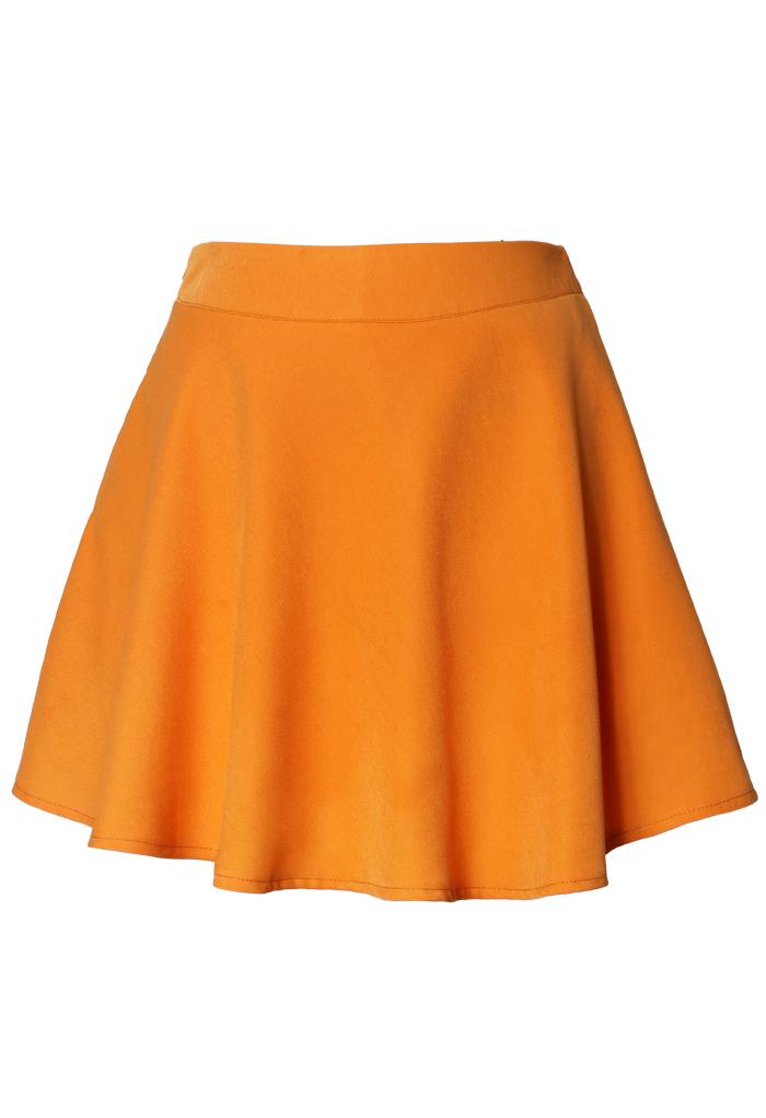 Neon Orange Skater Skirt