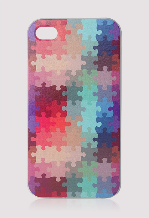 Colorful Puzzle Cellphone Case for Iphone4/4s
