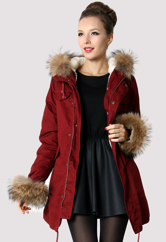 Hit The Road Detachable Fur Jacket in Wine(Limited Edition)