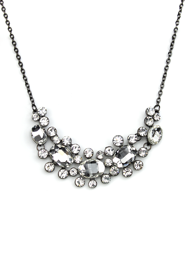Crystal Jewel Choker Necklace