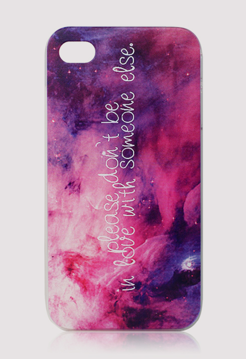 Water Brush Galaxy Cellphone Case for Iphone4/4s