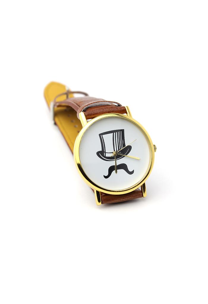 Top Hat Moustache Watch