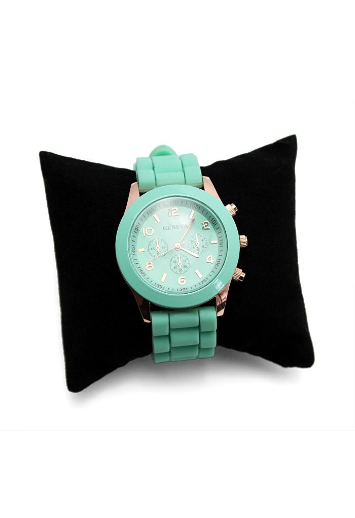 Mint Green Crystal Quartz Watch