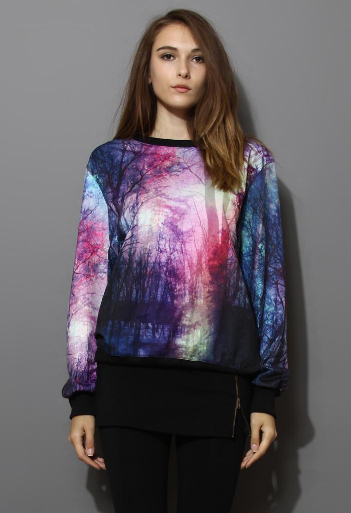 Twilight Print Sweater