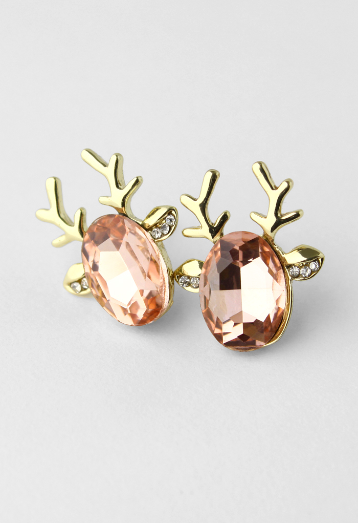 Darling reindeer stud earrings