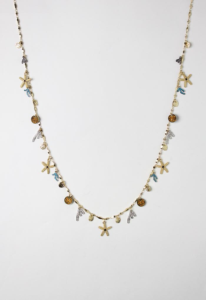 Delicate Starfish Diamond Necklace