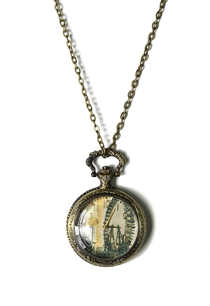 The London Eye Watch Pendant Necklace