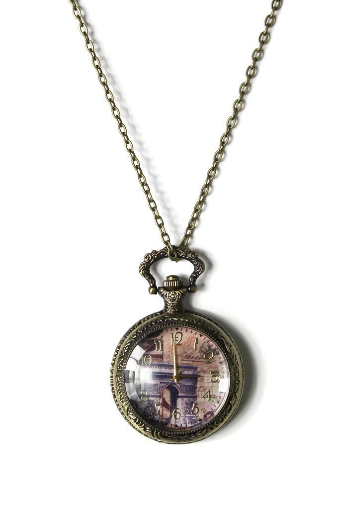 Triumphal Arch Watch Pendant Necklace