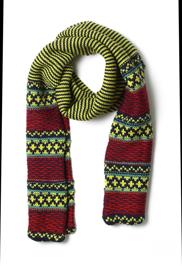 Strips Knit Scarf
