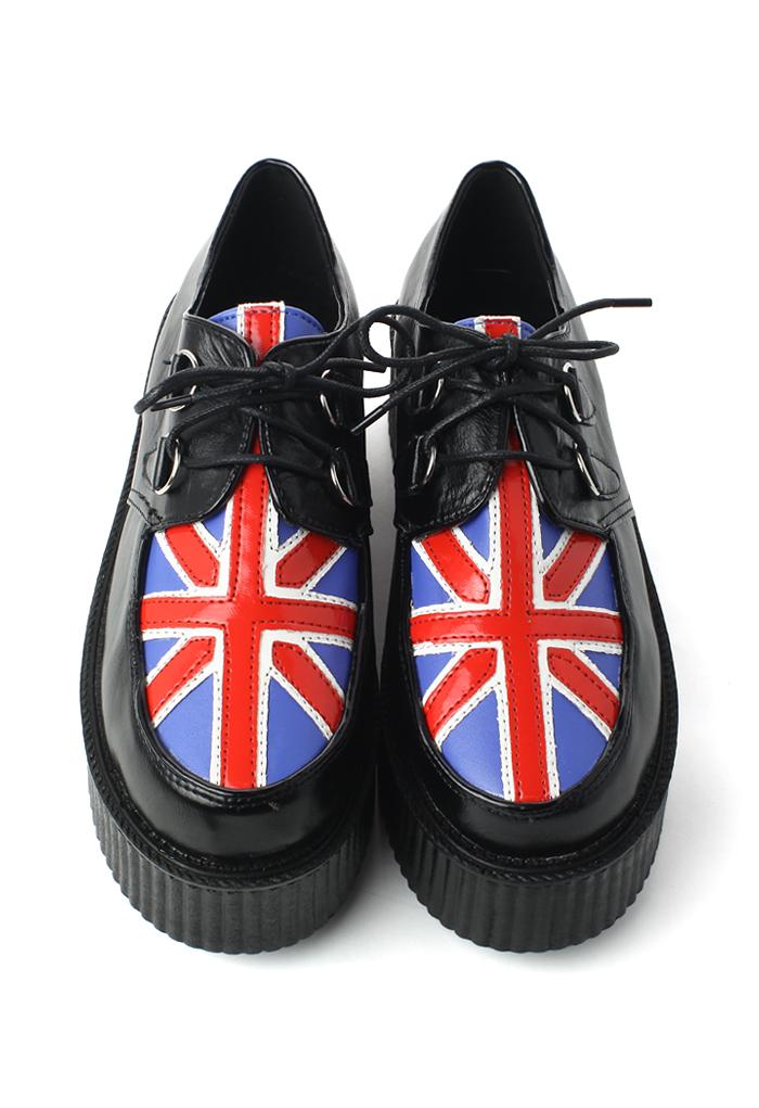 Union Jack Creeper Platforms Shoes