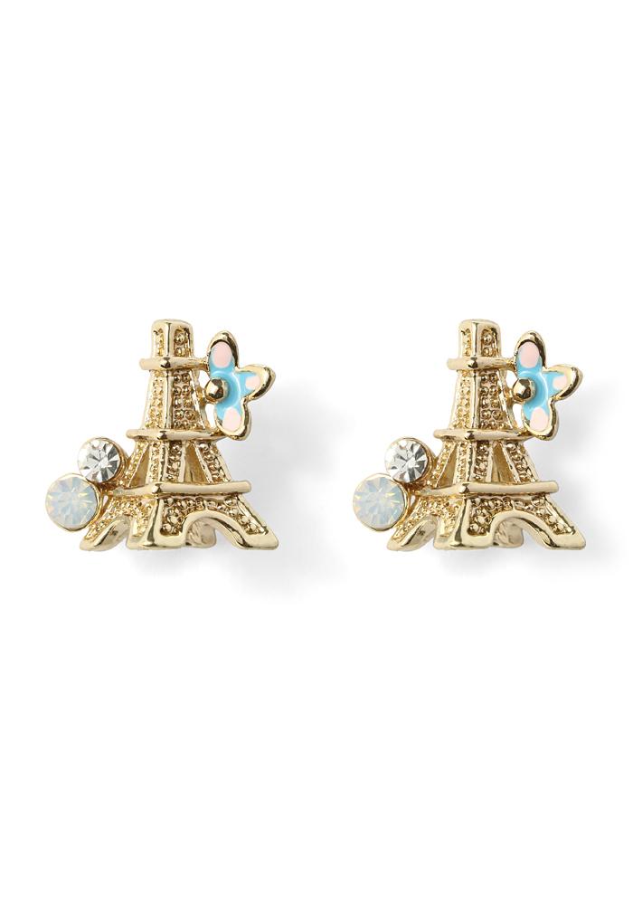 Crystal Eiffel Tower Earrings