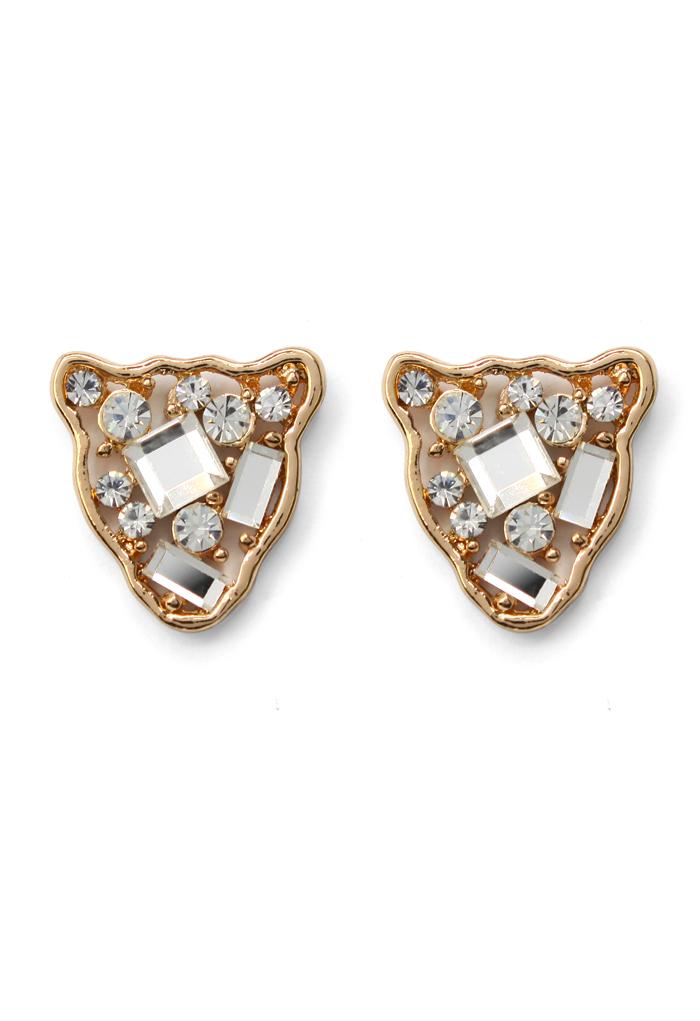 Crystal Animal Head Earrings