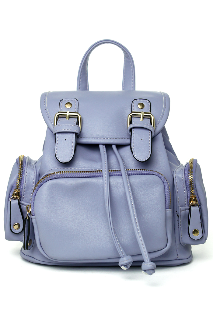 Candy Color Purple Mini Backpack