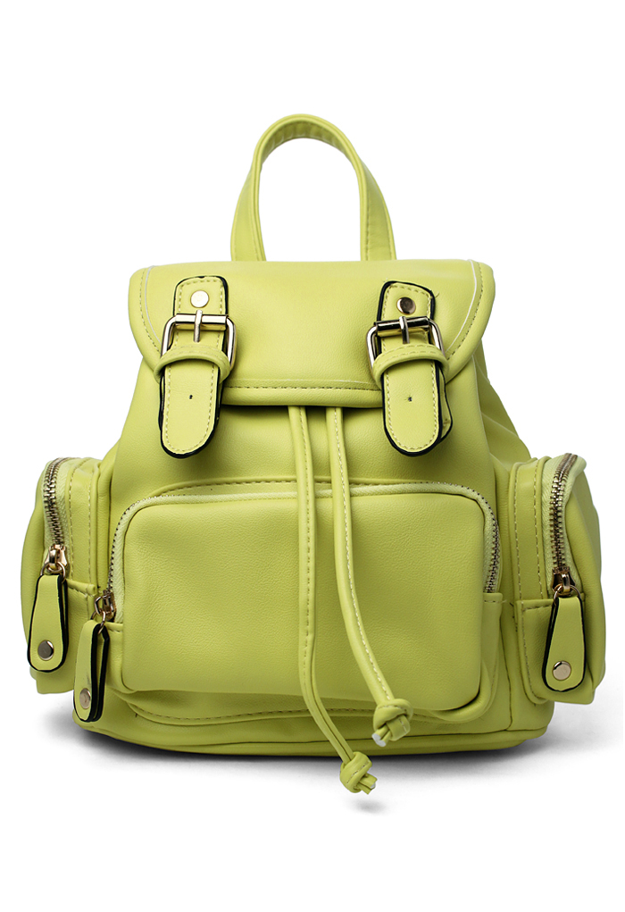 Candy Color Yellow Mini Backpack