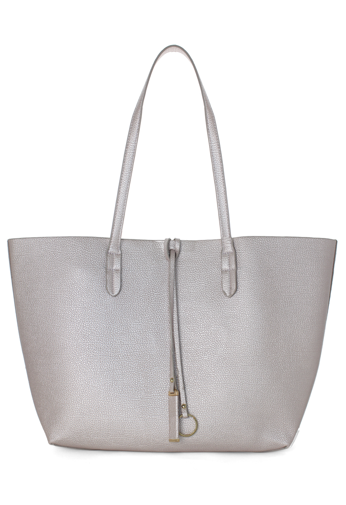 Twinset Tote Bag in Silver Pink