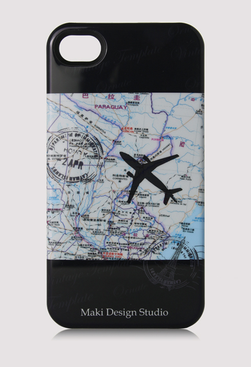 Map Stamp and Airplane Mobile Phone Case