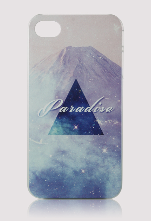 Triangle and Iceberg Print Mobile Phone Case