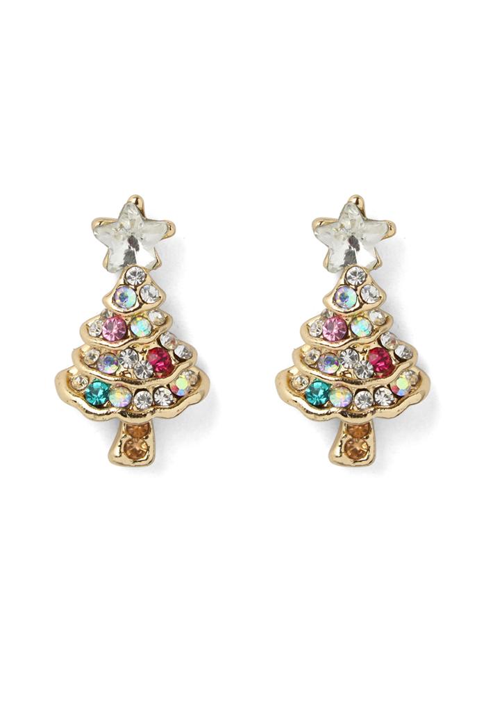 Delicate Christmas Tree Earrings