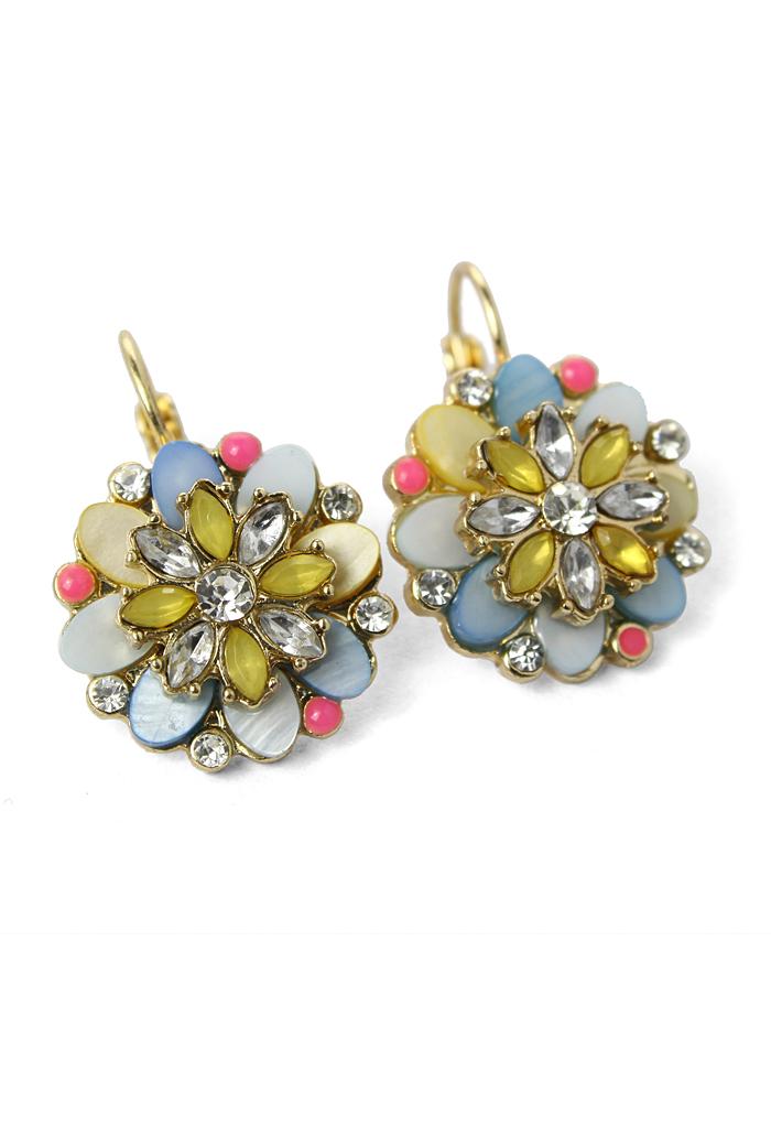 Blooming Flower Beads Earrings
