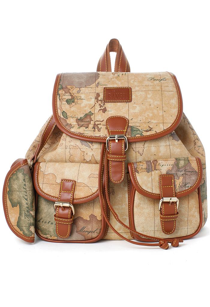 Map Print Backpack