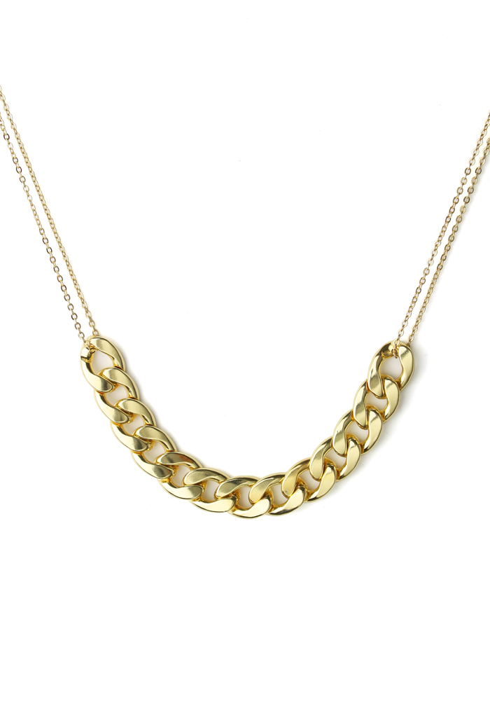 Golden Grace Chunky Chain Necklace