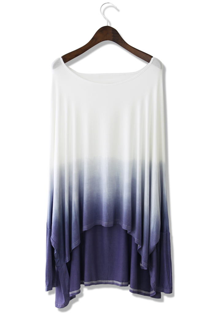 Ombre Boho Batwing Top