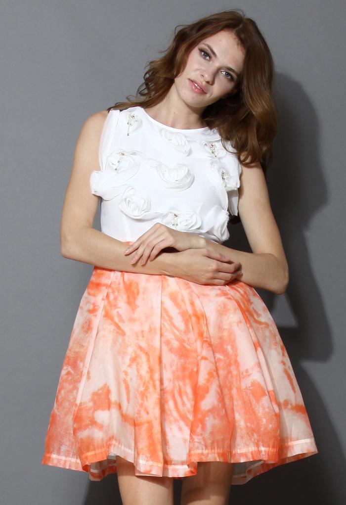 Orange Blossom Sleeveless Dress