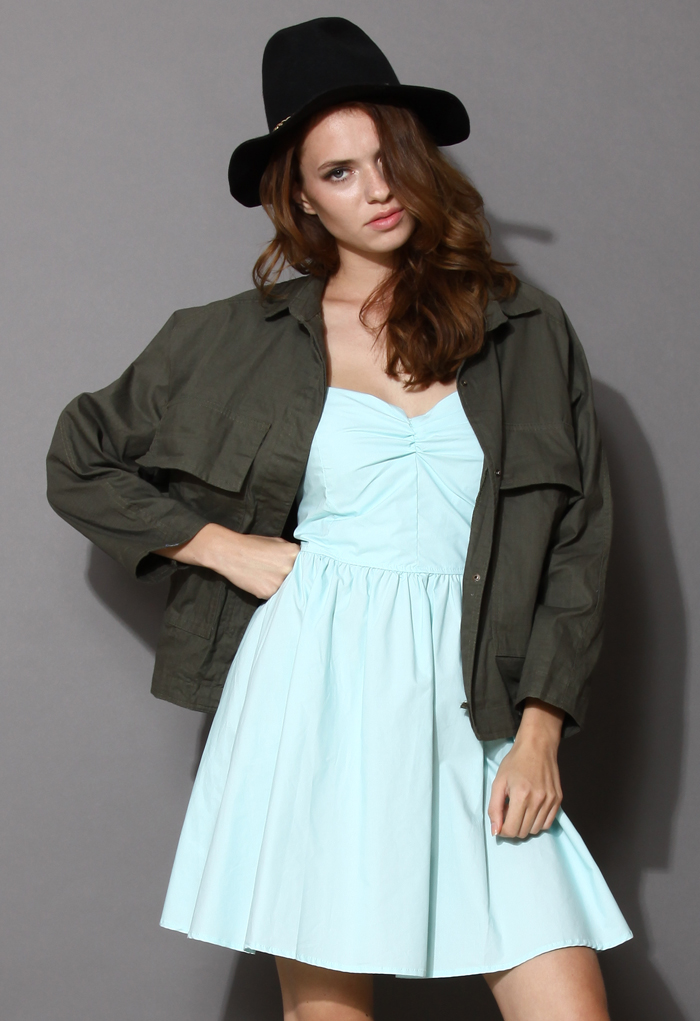 Free Style Military Green Jacket