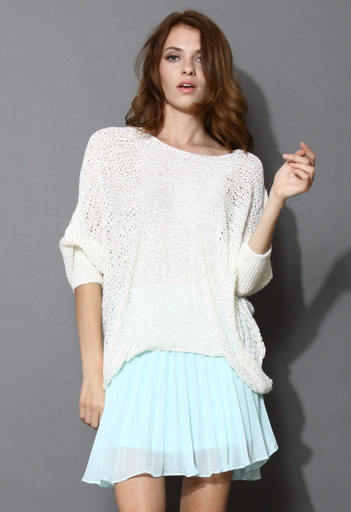 White Slouchy Sweater