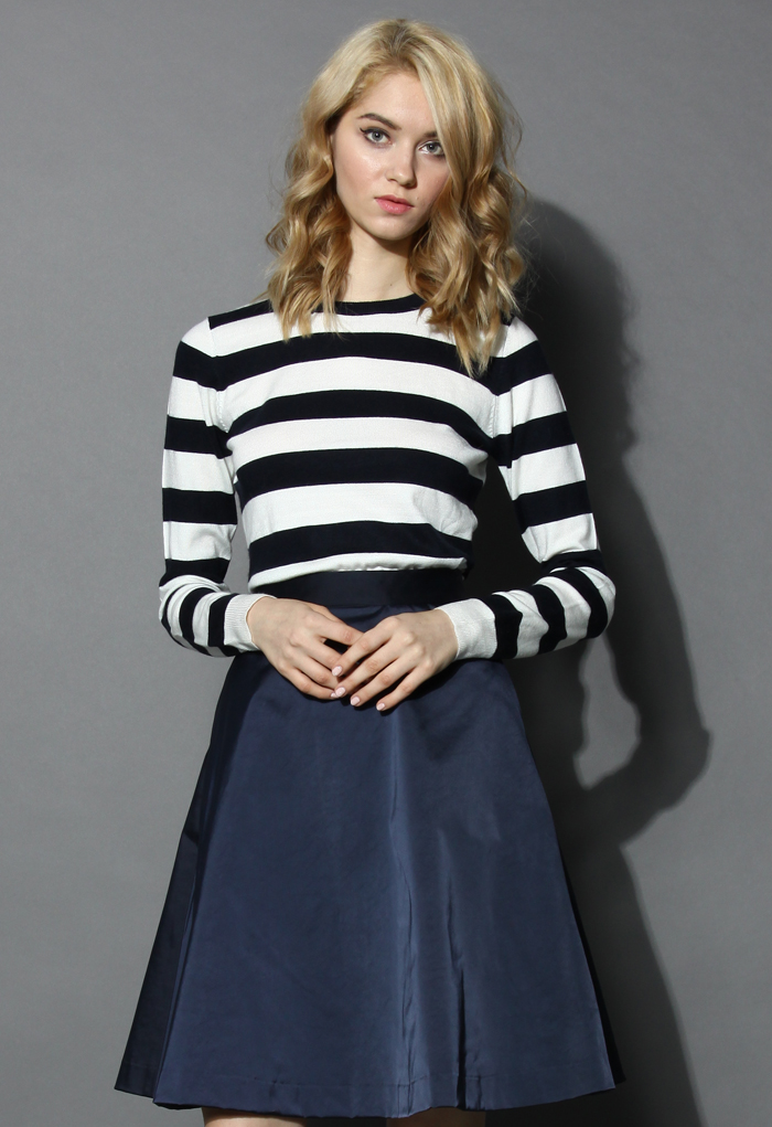 Classic Striped Long-sleeves Sweater