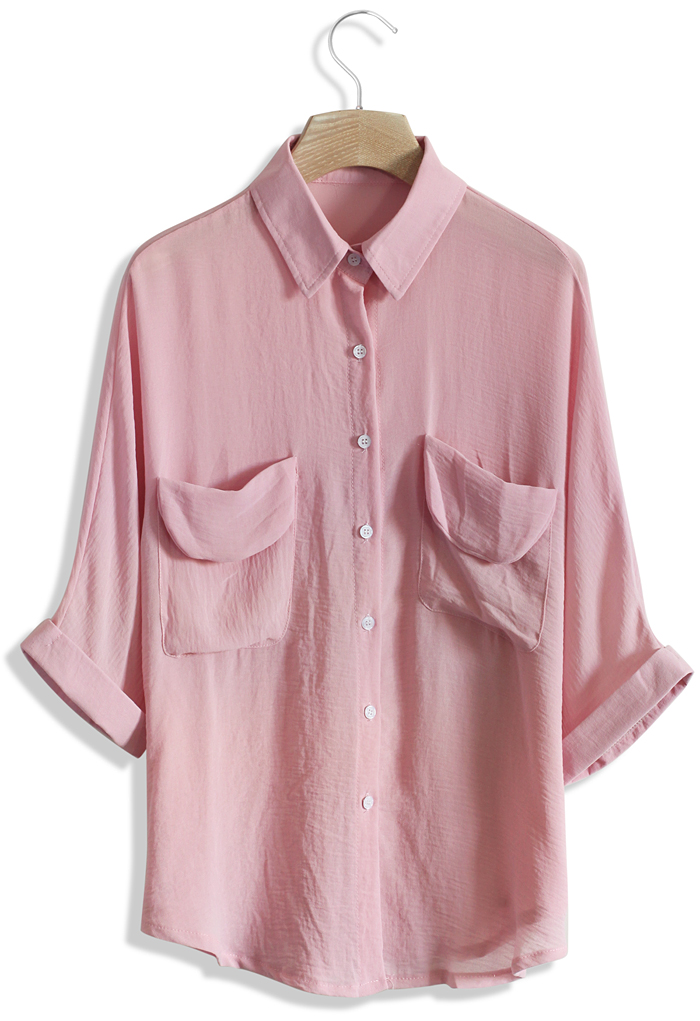 Stay Cool Batwing Shirt in Pink