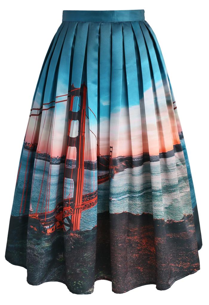 San Fran Fancy Midi Skirt