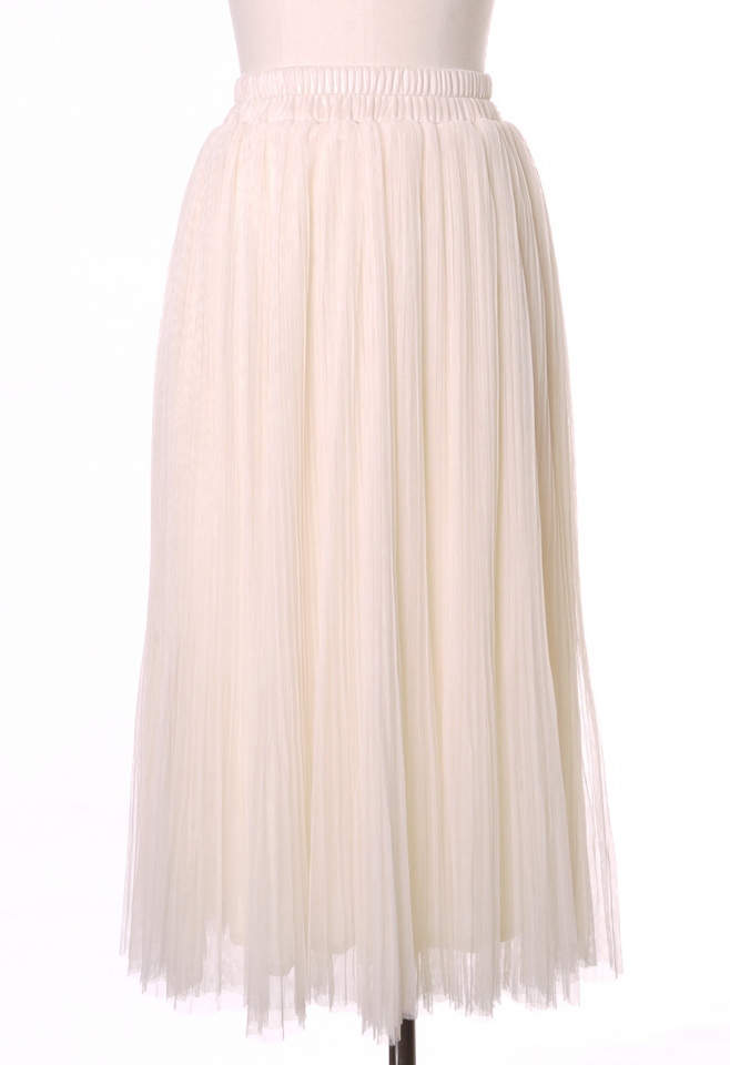 Tulle Tours Skirt in Ivory