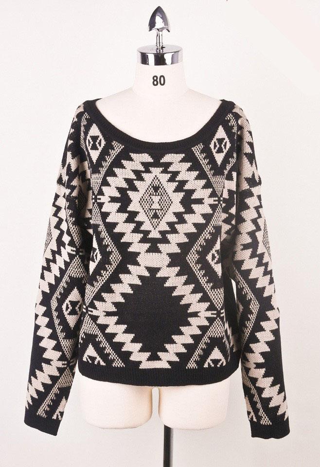 Sparks between Aztec Sweater