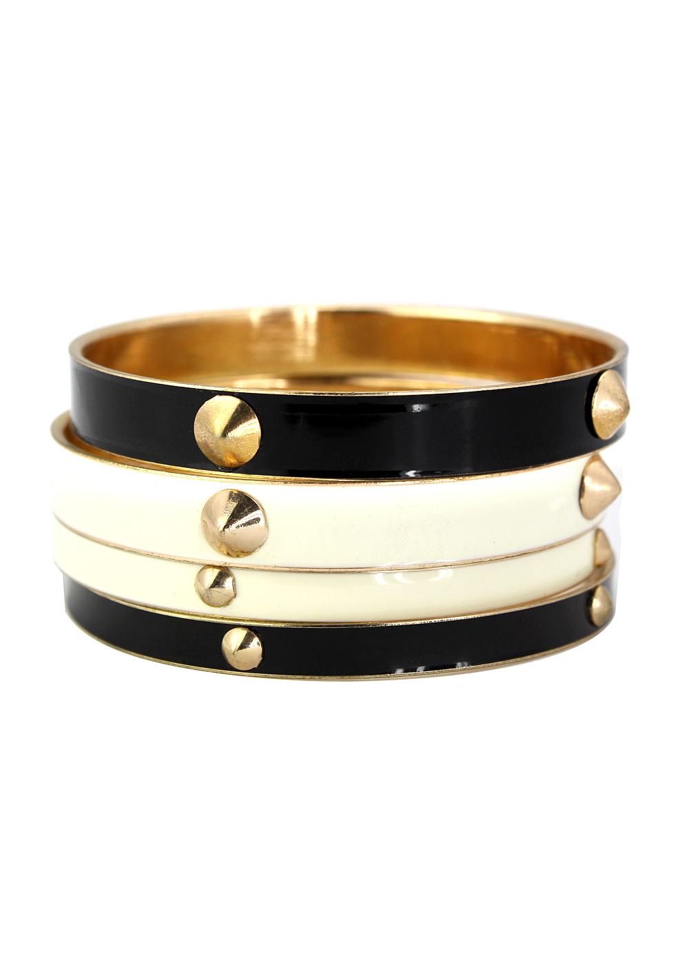 Studded Bracelet Set