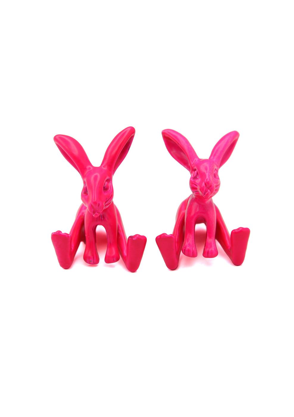 Neon Rabbit Earrings