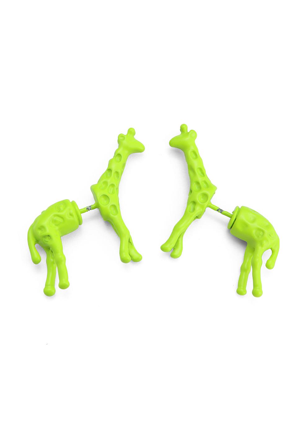Neon Giraffe Earrings