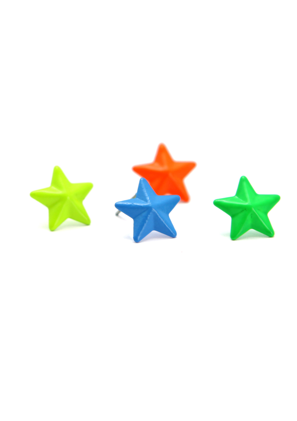 Neon Star Earrings