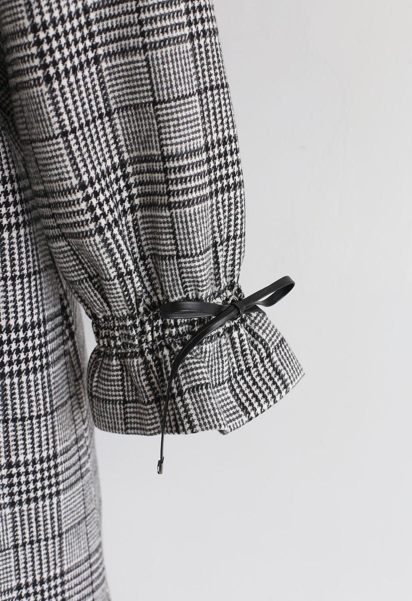 Tailored Plaid Pattern Pocket Coat