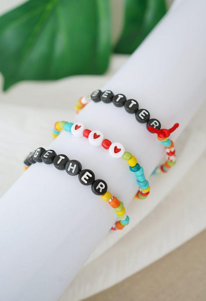 2 Sets Colorful Beads Friendship Bracelets