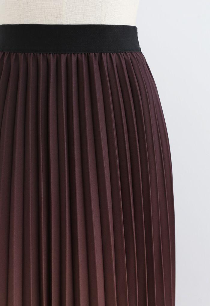 Nightfall Gradient Pleated Midi Skirt