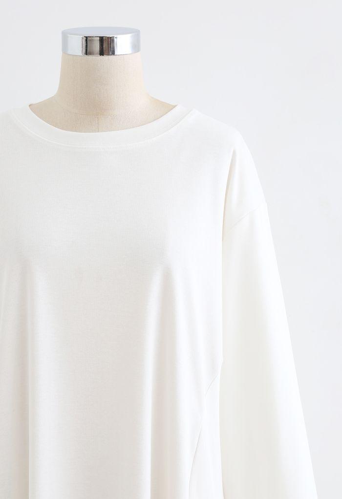 Frilling Dolly Mini Dress in White