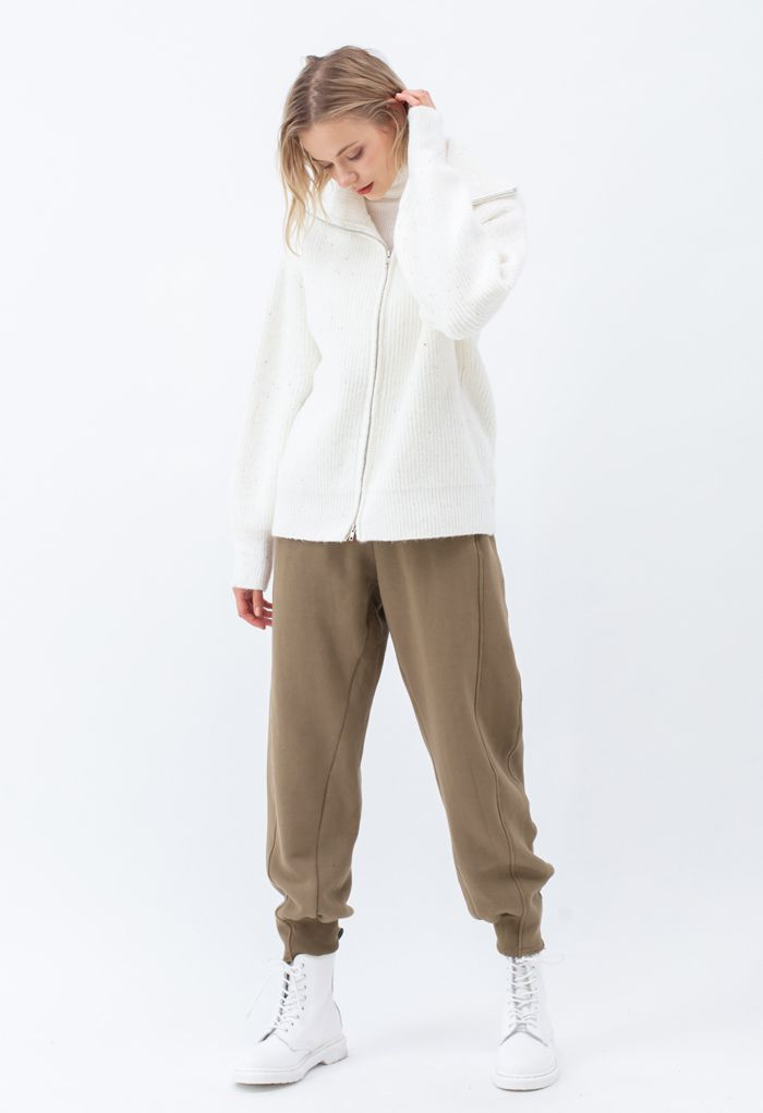 Ultimate Soft Seamed Detail Raw Cut Joggers