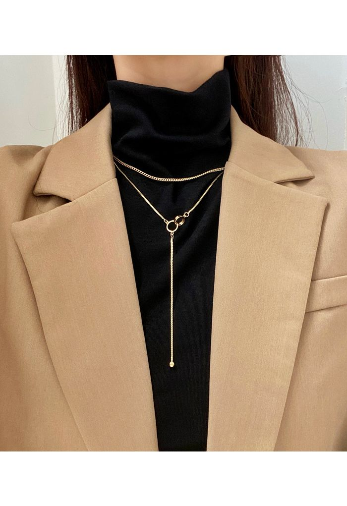 Double Layered Connection Necklace